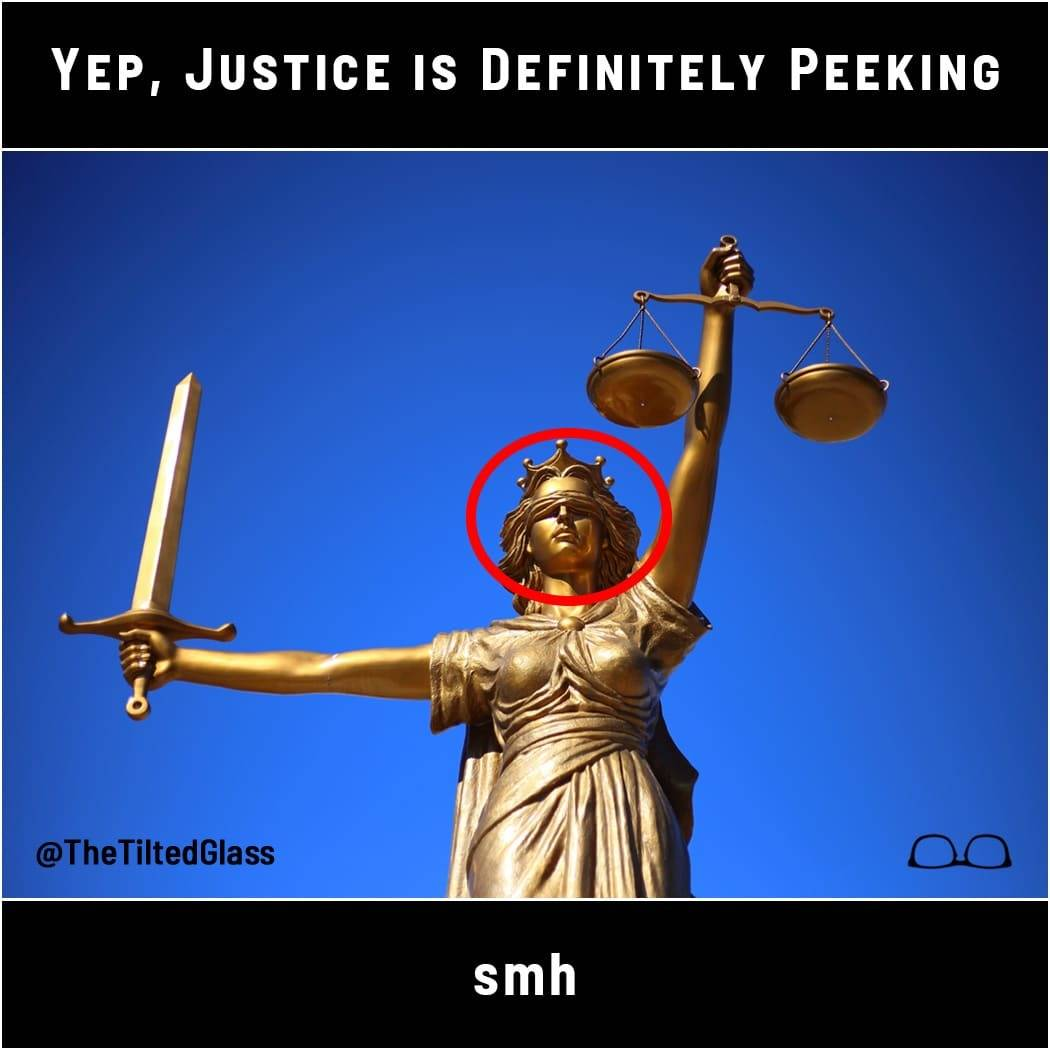 Yep, Justice is Definitely Peeking