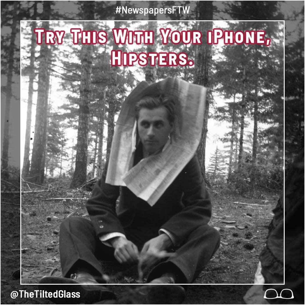 Try This With Your iPhone, Hipsters