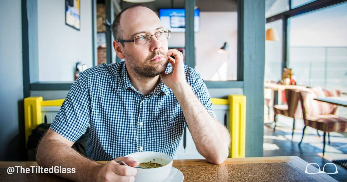 Man Sits Alone in Cafe Every Day Without Phone and Just Stares