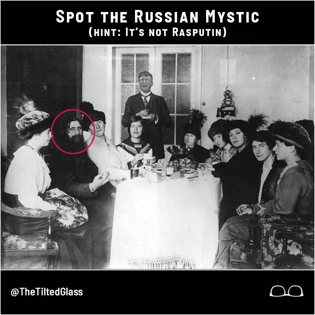 Spot the Russian Mystic!  Hint: It's Not Rasputin.