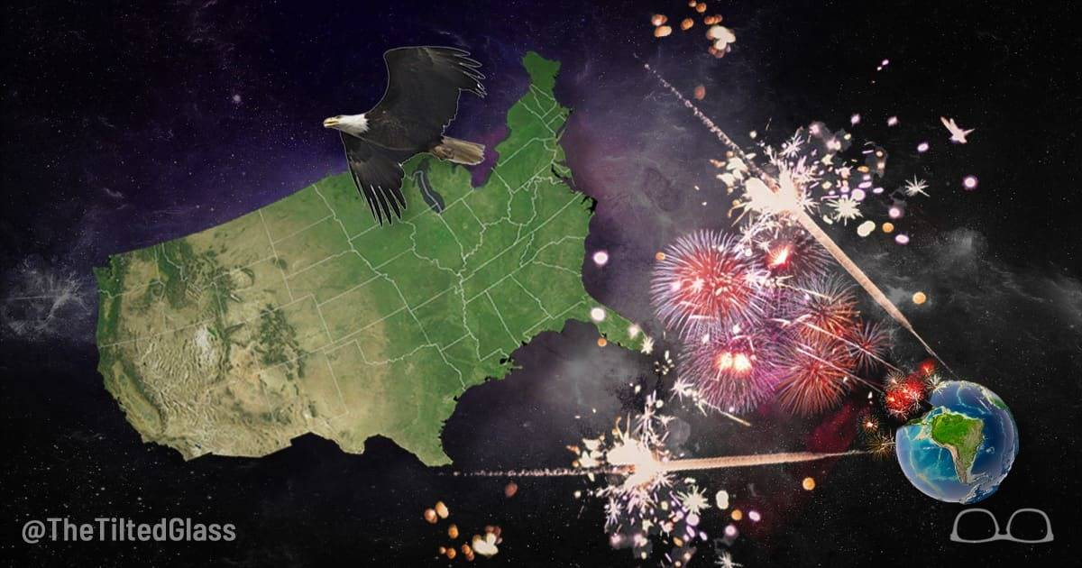 America Celebrates Independence from Rest of Planet