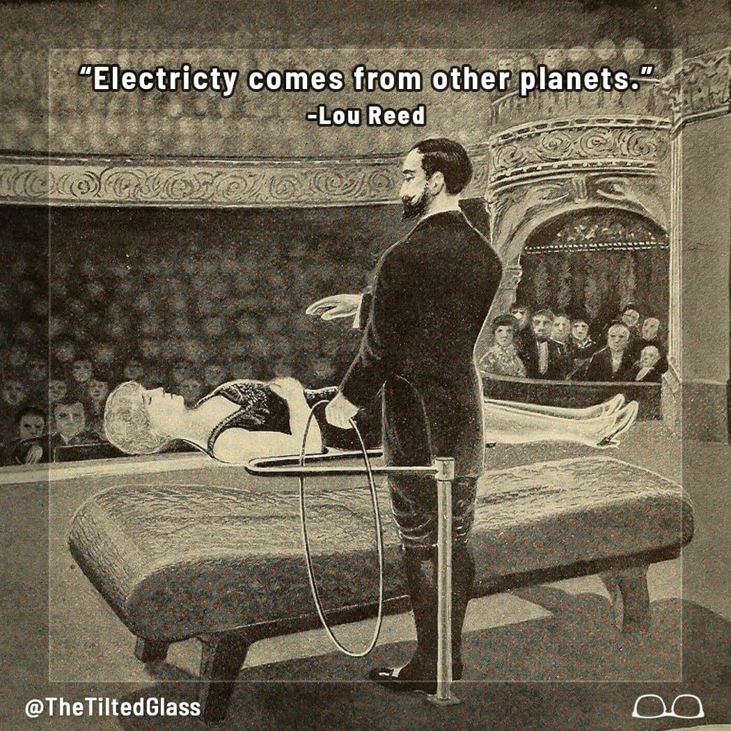 Electricity Comes From Other Planets - Lou Reed
