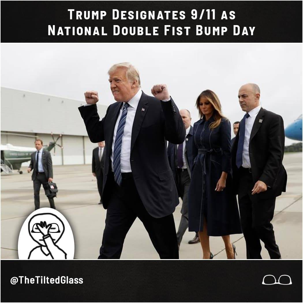 Trump Designates 9/11 as National Double Fist Bump Day