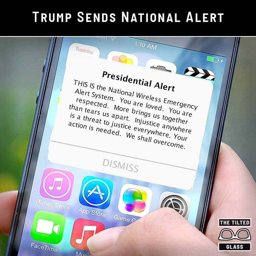 Trump Sends National Alert