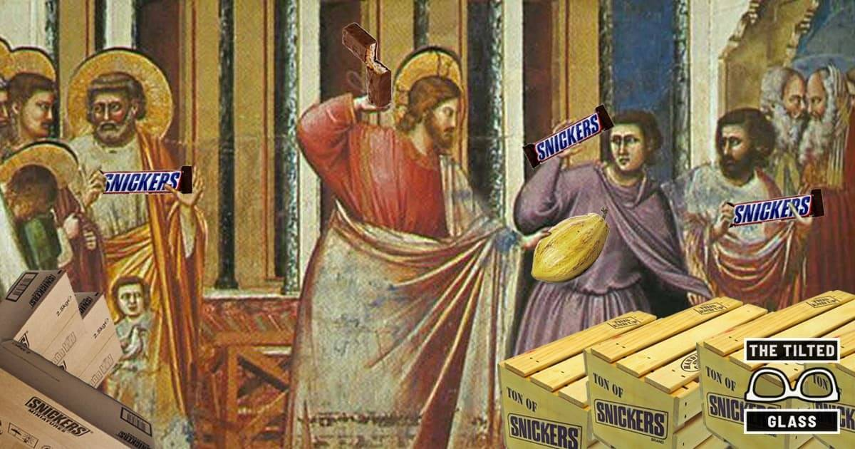Jesus Throws Out Snickers Bars From the Temple, Says Cacao is Sacred