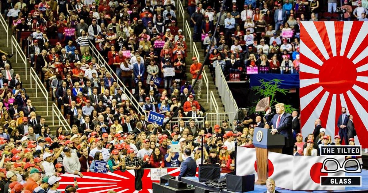 "Trump Boasts ""Old School Nationalism"" Inside The Japanese Toyota Center"