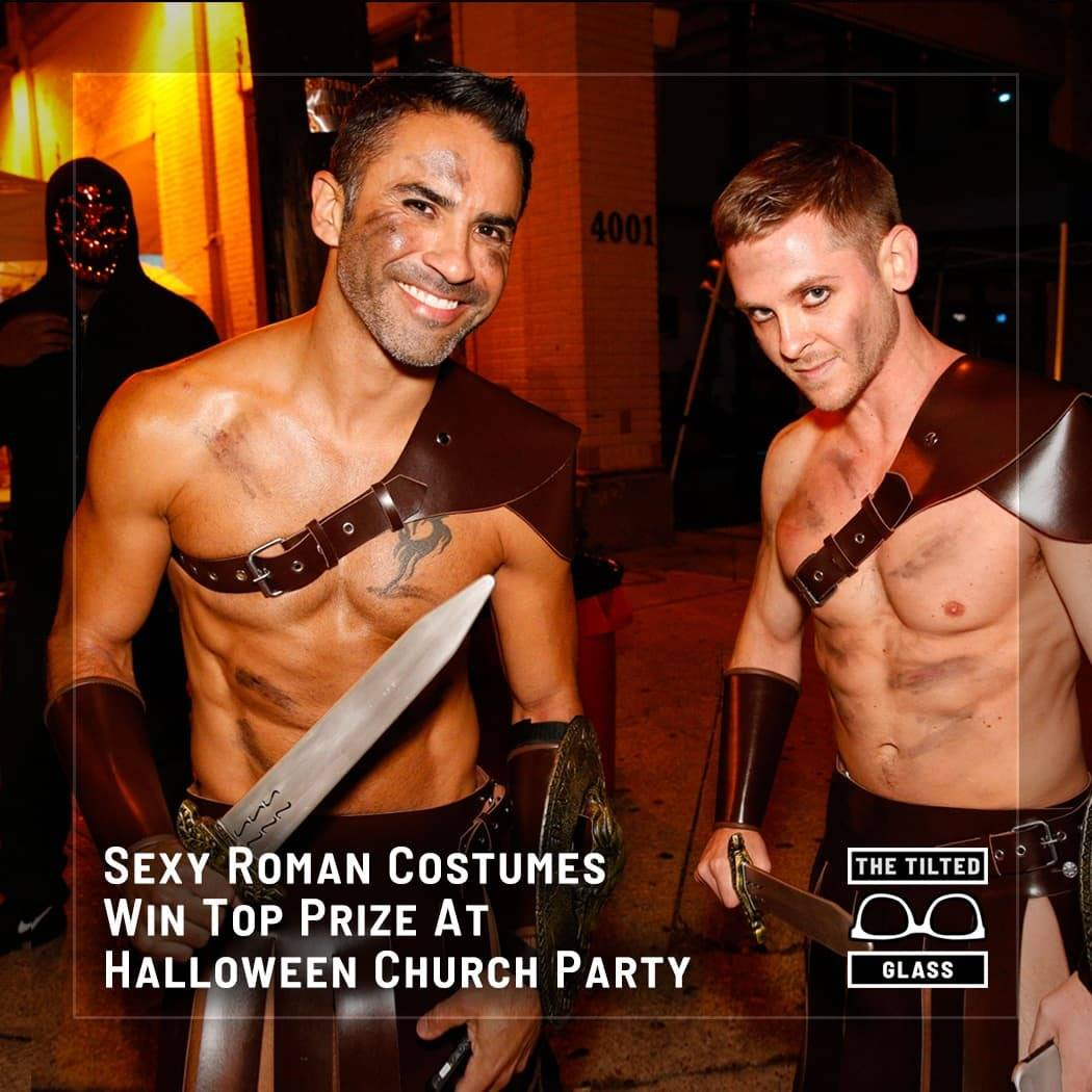 Sexy Roman Costumes Win Top Prize At Halloween Church Party