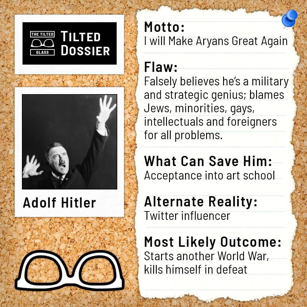 Who is Adolf Hitler? A Dossier Roast