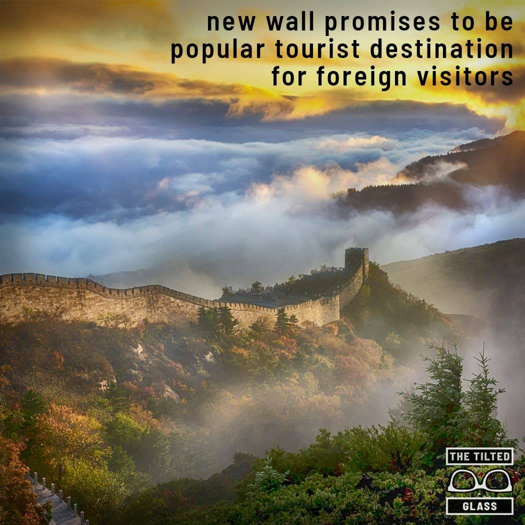 New wall promises to be popular tourist destination for foreign visitors