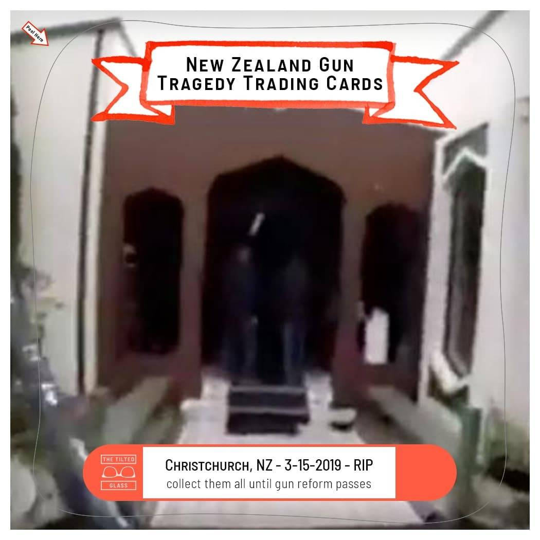 New Zealand Gun Tragedy Trading Cards - 3-15-2019