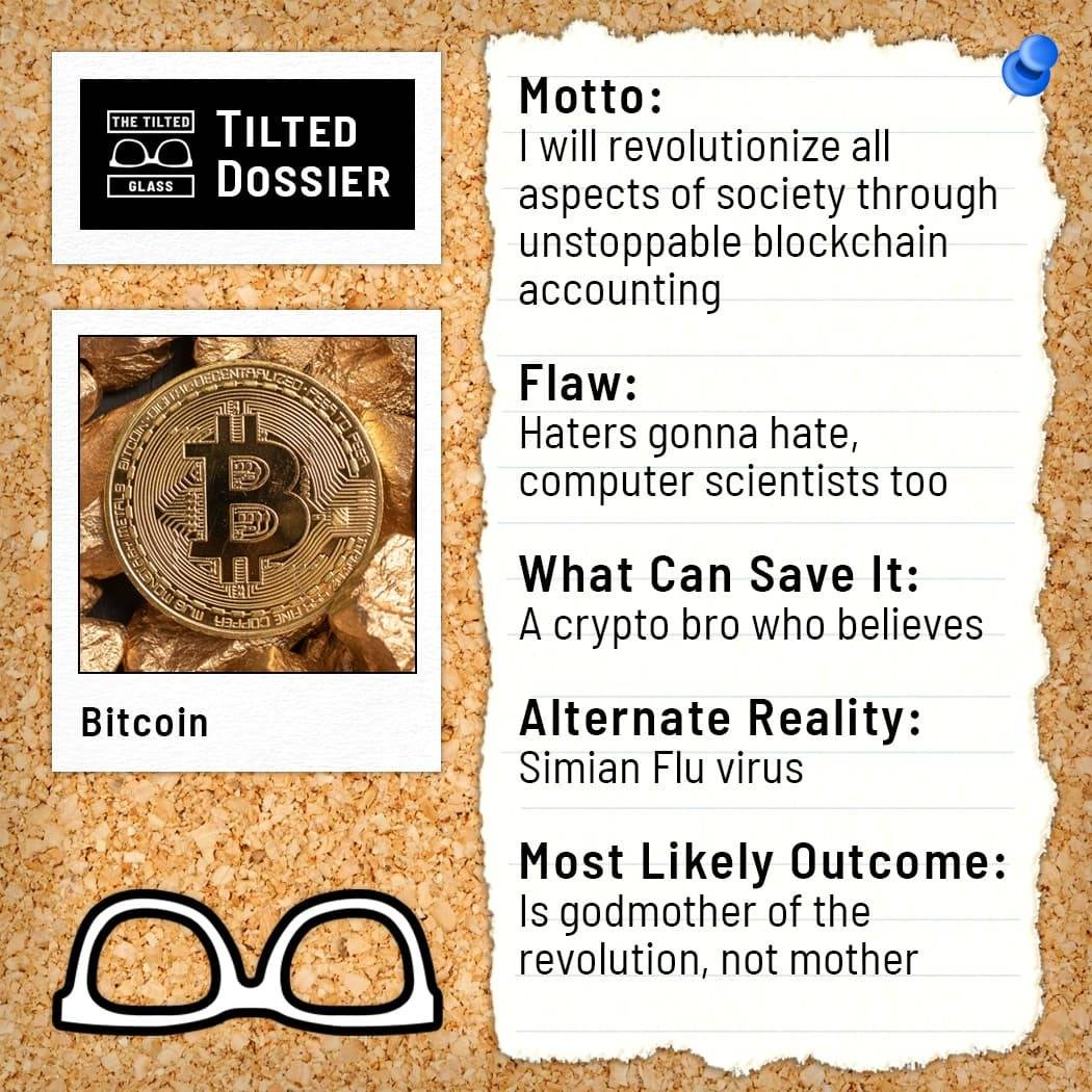 What is Bitcoin? A Dossier Roast
