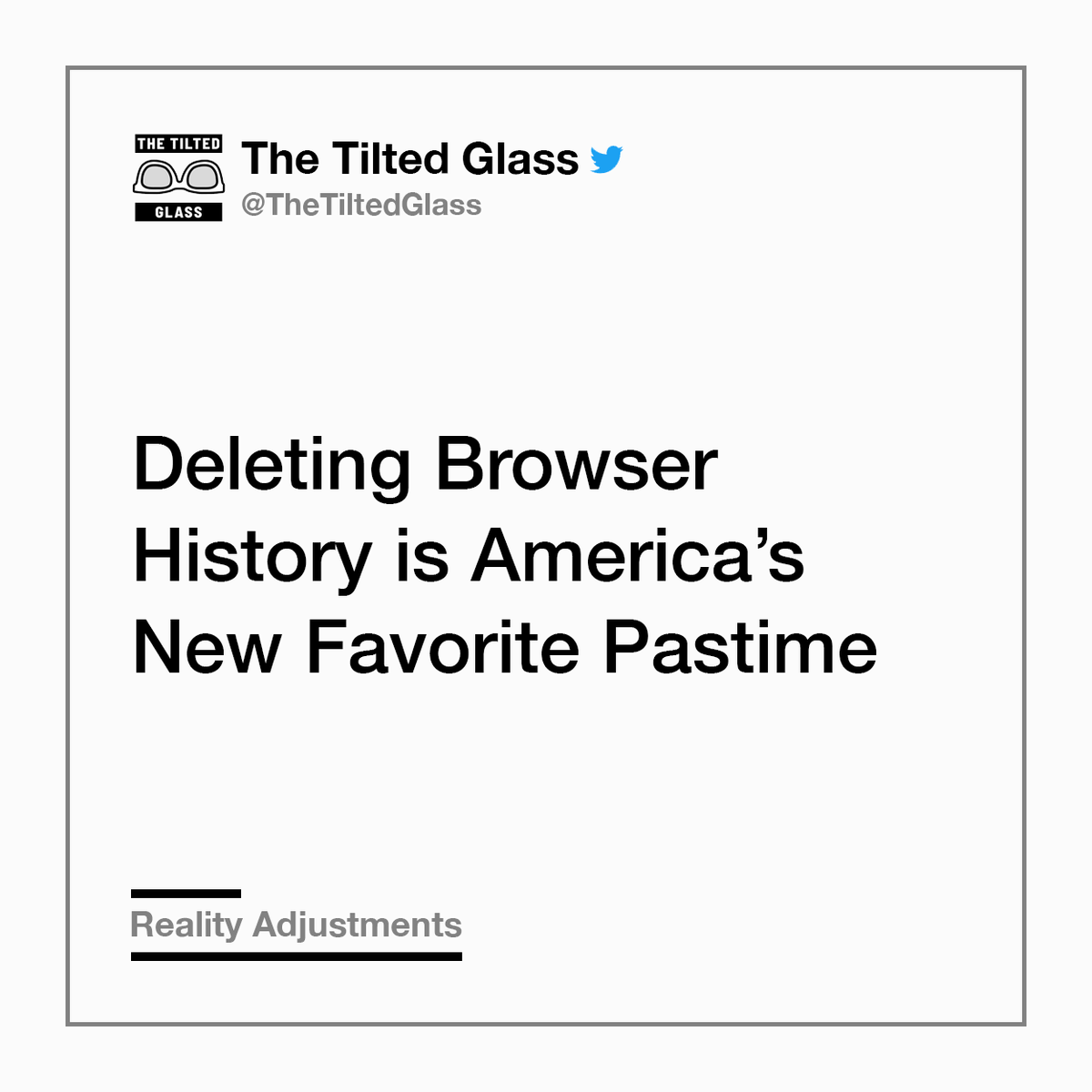 Deleting Browser History is America's New Favorite Pastime