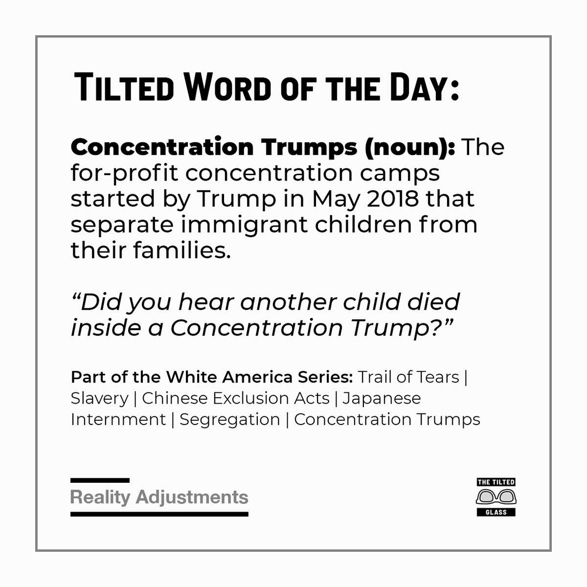 Tilted Word of the Day: Concentration Trumps (noun)