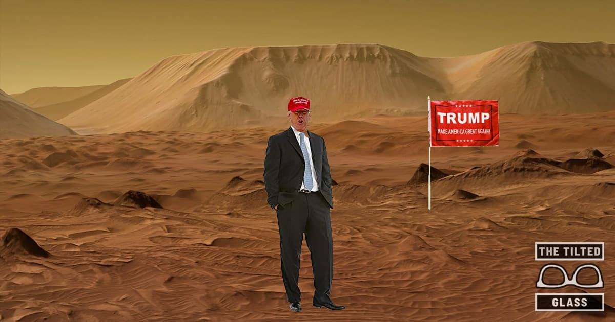 Report: Most Americans Want Trump to Go to Mars
