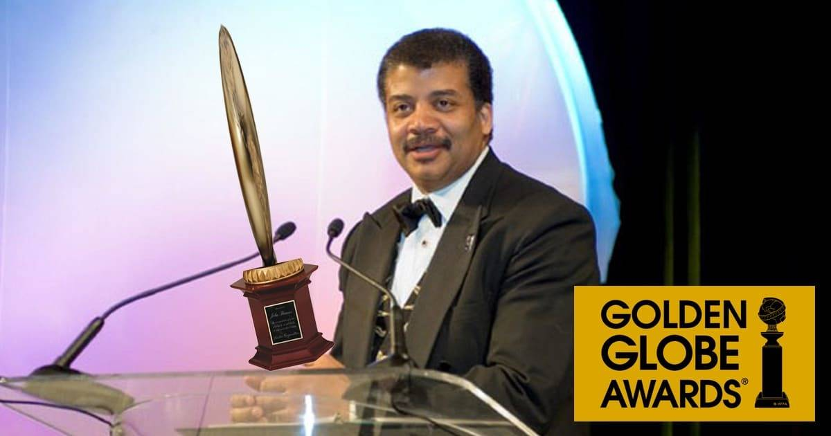 Neil deGrasse Tyson Receives Golden Flat Earth Award