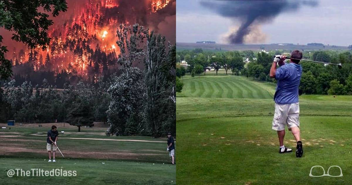 ​6+ Crazy Golfers in War & Natural Disaster