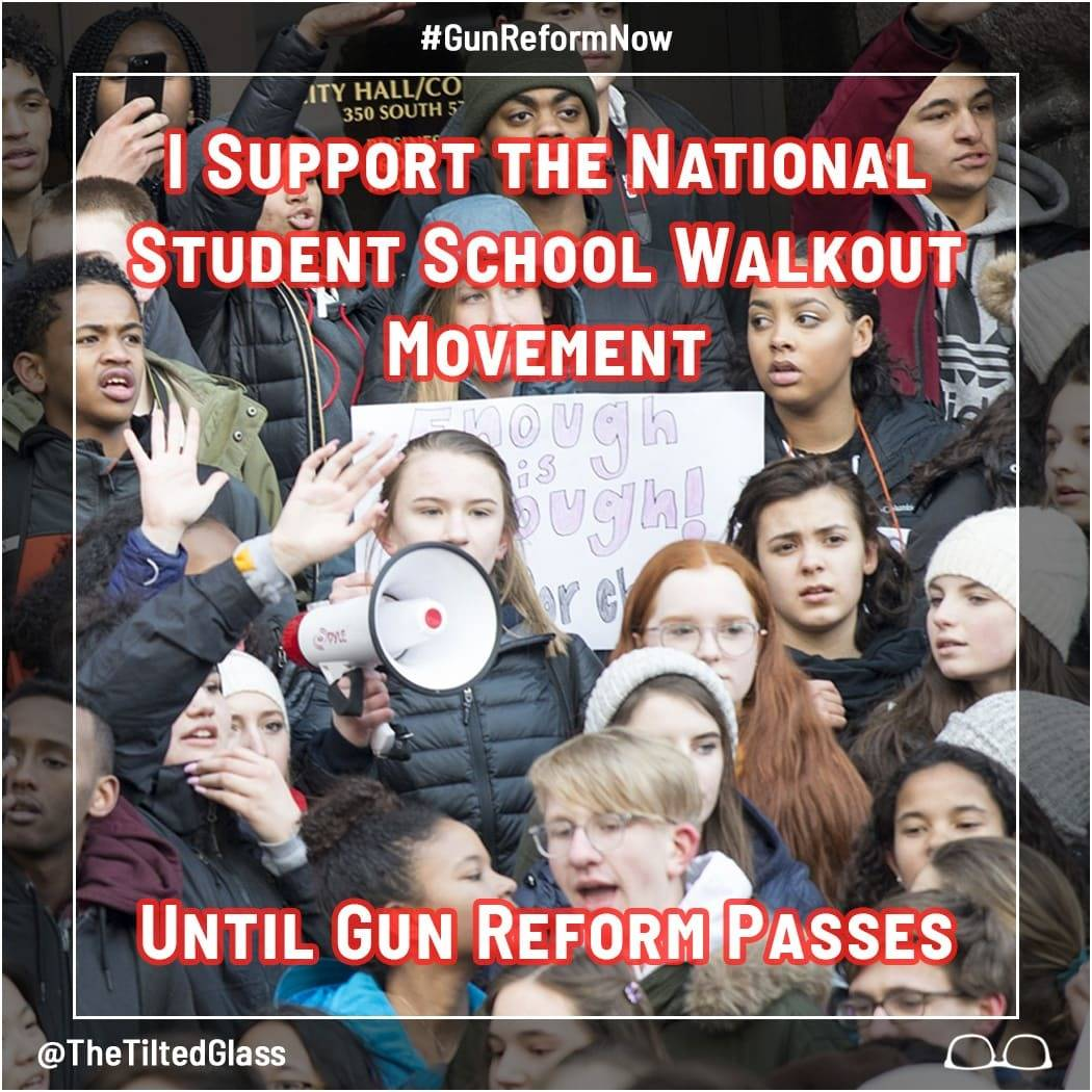 I Support the National Student School Walkout Movement